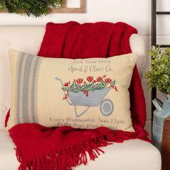Farmhouse Wheelbarrow Accent Pillow