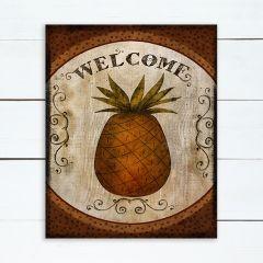 Pineapple Welcome Wall Art