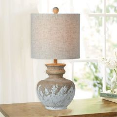 Two Tone Elegant Country Table Lamp Set of 2