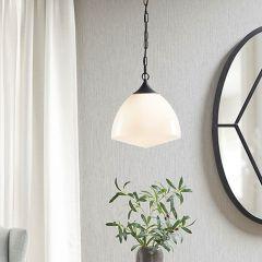 Modern Farmhouse Glass Bowl Pendant
