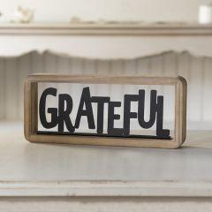 Grateful Tabletop Sign