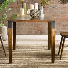 Warm Wood Casual Dining Table