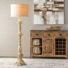 French Country Farmhouse Floor Lamp