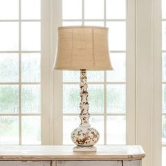Rustic Wooden Bouteille Lamp