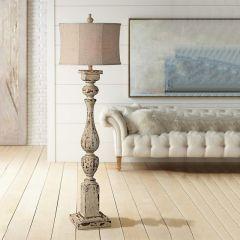 Distressed Manor Floor Lamp