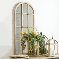 Arched Windowpane Wall Panel Mirror