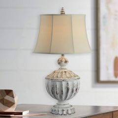 Distressed Chic Farmhouse Table Lamp