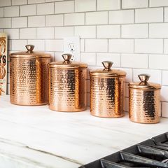 Copper Finish Canisters Set of 4