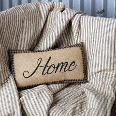 Burlap Home Accent Pillow