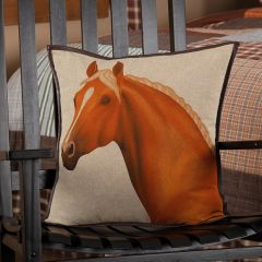 Country Horse Accent Pillow