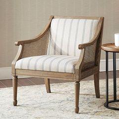 Lattice Side Upholstered Armchair