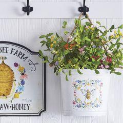 Floral Bee Embossed Bucket