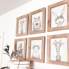 Animal Wreath Framed Print Set of 6