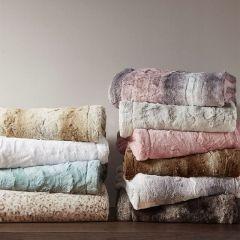 Faux Fur Farmhouse Throw Blanket