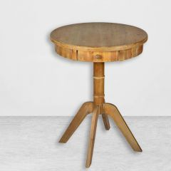 Round Rustic Accent Table