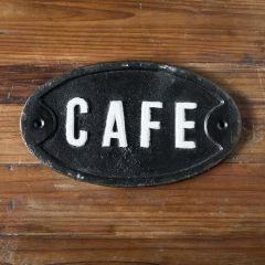 Cast Iron CAFE Wall Plaque