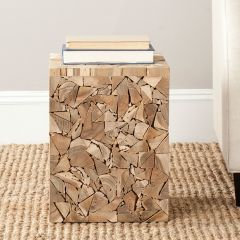 Wood Pieces Accent Table Stool