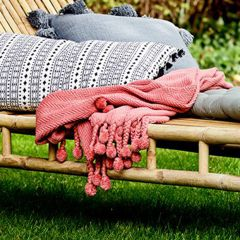 Tasseled Russet Cotton Throw Blanket