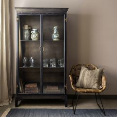 Old World Style Metal Cabinet