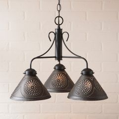 3 Light Rustic Country Dome Chandelier