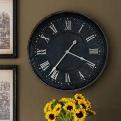Aged Metal Wall Clock