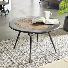 Industrial Farmhouse Round Coffee Table
