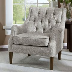 Vintage Inspired Button Tufted Accent Chair