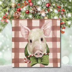 Holiday Farm Animal Wall Art Pig