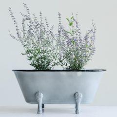 Decorative Metal Clawfoot Tub Planter