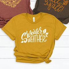 Sweater Weather Mustard Tee