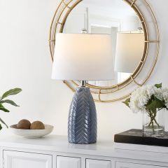 Chevron Glass Table Lamp