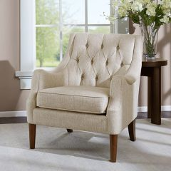 Classic Button Tufted Armchair