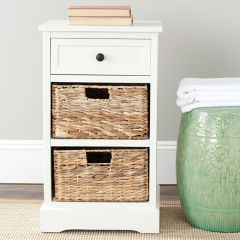 2 Basket Storage Side Table