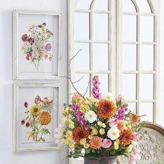 Spring Floral Shadow Box Print Set of 2