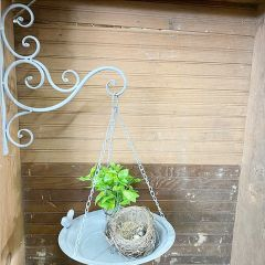 Hanging Tray Planter With Scrollwork Bracket