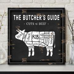 Butcher Guide Wall Decor