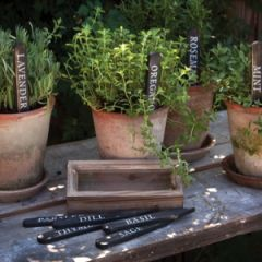 Wooden Herb Garden Markers With Box