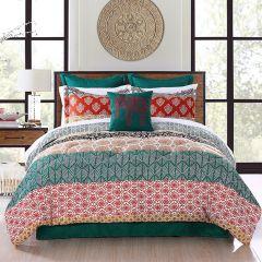 7 Piece Colorful Bohemian Comforter Set