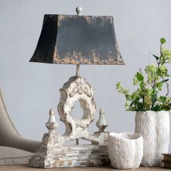 Iron and Wood Table Lamp