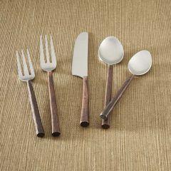 5 Piece Copper Handled Flatware Set
