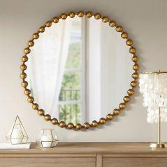 Iron Edge Round Wall Mirror