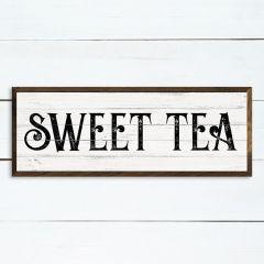 Sweet Tea Whitewash Framed Sign