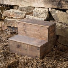 Rustic Stair Stepping Stool