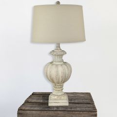 Urn Lamp With Linen Shade