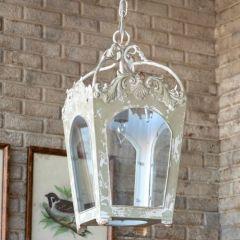 Rustically Ornate Single Bulb Chandelier