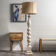 Rustic Floor Lamp With Burlap Shade