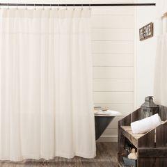 Simple Burlap Shower Curtain