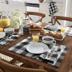 Black and White Classic Buffalo Check Placemats Set of 4