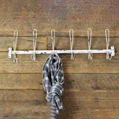 Pale Tin Hook Rack