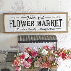 Framed Flower Market Sign